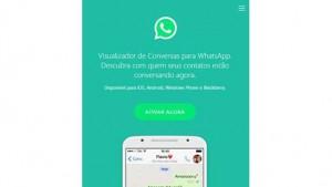 Golpe promete permitir que vítimas vejam conversas de contatos no WhatsApp (Foto: Reprodução/ESET)